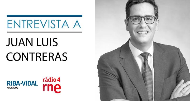 Entresvista a Juan Luis Contreras de Riba-Vidal Abogados en RNE